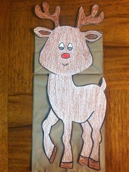 Christmas Reindeer Puppet