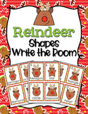 Christmas Reindeer Shapes Write the Room