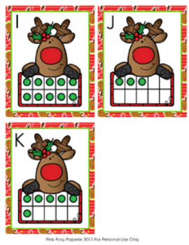 Christmas Reindeer Ten Frames Count the Room