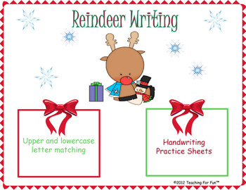 Christmas Reindeer Writing Practice Games