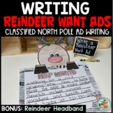 Christmas Reindeer Writing Want Ads