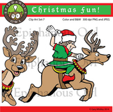 Christmas Reindeer and Elf Clip Art Set 7