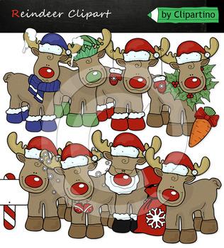 Christmas Reindeer clipart Bundle