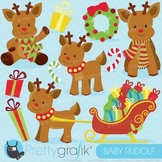Christmas Reindeer clipart commercial use, vector graphics, - CL613