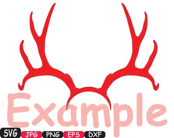Christmas Reindeer deer wild Merry SANTA Ruldoph SVG snow ornament Tree  -381s