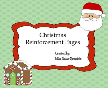 Christmas Reinforcement Pages