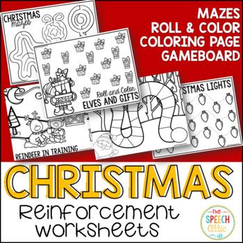 Christmas Reinforcement Worksheets