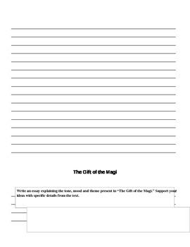 The Gift of the Magi: Christmas Story Response Writing
