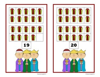 Christmas (Religious) 10 Frame Counting Mats (11-20)