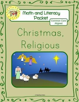 Christmas Religious Worksheets Emergent Reader Task Cards