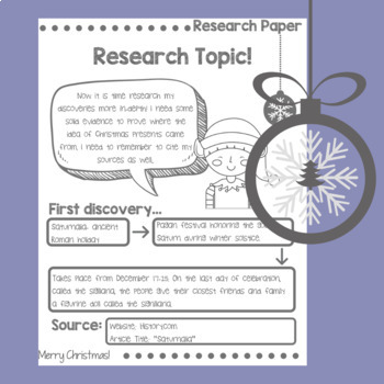 Christmas Research Paper Unit