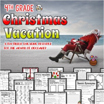 4th Grade Christmas Activities Math Language STEM and MORE