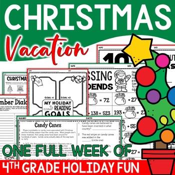 Christmas Math, Literacy & More Resource Mega Pack - 4th Grade