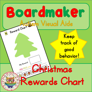 Christmas Reward Chart - Boardmaker Visual Aids for Autism SPED