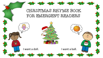 Christmas Rhyme Book Emergent Reader