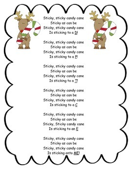 Christmas Rhyme & Letter Recognition Activity