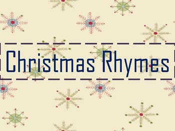 Christmas Rhyming