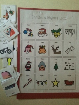 Christmas Rhymes Lotto Game