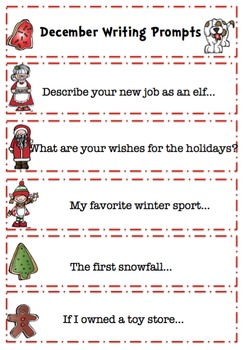 Christmas Rhyming Cards and Writing Prompts