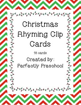 Christmas Rhyming Clip Cards