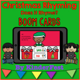 Christmas Rhyming - Does it Rhyme? Boom Cards