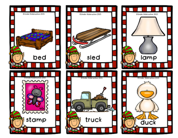 Christmas; Rhyming Pocket Chart and Clip-It Cards