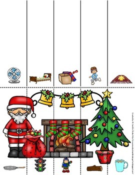 Christmas Rhyming Puzzles  Color and Blacklines Mats