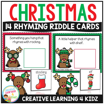 Christmas Rhyming Riddle Interactive Cards
