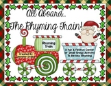 Christmas Rhyming Train!  Great Center, Game, Review & Assessment! CC Aligned!