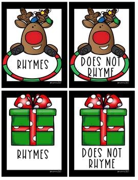 Christmas Rhyming Words