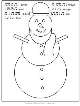 Christmas Rhythm Listening Snowman
