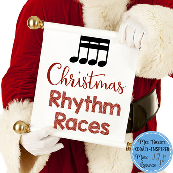 Christmas Rhythm Races Game {Sixteenth Notes}