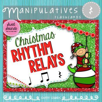 Christmas Rhythm Relays {Ta Rest}