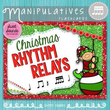 Christmas Rhythm Relays {Takadimi Tikatika}