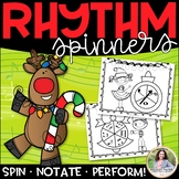 Christmas Rhythm Spinners for Elementary Music Students {C