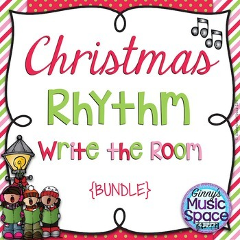 Christmas Rhythm Write the Room {BUNDLE}