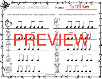 Christmas Rhythm Write the Room {Ta TiTi}