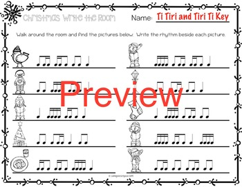 Christmas Rhythm Write the Room {Ti Tiri Tiri Ti}