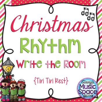 Christmas Rhythm Write the Room {Tiri Tiri Rest}