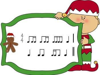 Christmas Rhythms: A Game for Practicing Ti-ka-ti and Ti-ti-ka (2 bars)