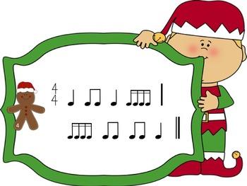 Christmas Rhythms: A Game for Practicing Ti-ka-ti-ka (2 bars)