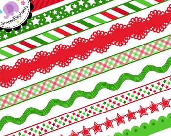 Christmas Ribbons - Red and Green