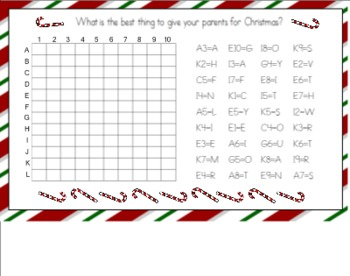 Christmas Riddle Graph for the Smart Board