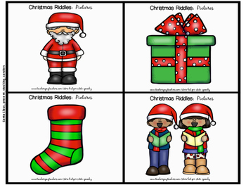 Christmas Riddles:  Vocabulary Builders!