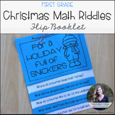 Christmas Riddles Flip Book for 1st Grade