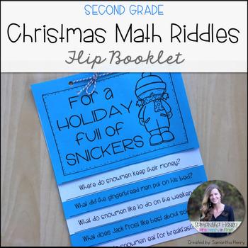 Christmas Riddles Flip Book for 2nd Grade
