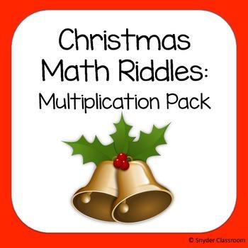 Christmas Multiplication Math Riddles