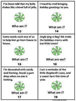 Christmas Riddles: Riddle the Room, I Have Who Has Game
