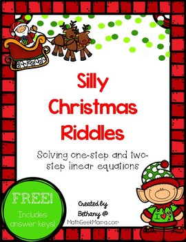 Christmas Riddles: Solving Linear Equations