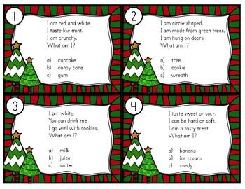 Christmas Riddles Task Cards